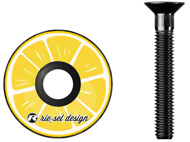 Riesel Design stem:cap per serie sterzo, giallo